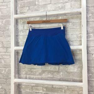 Lululemon Pace Setter Skirt Baroque Blue Size 2